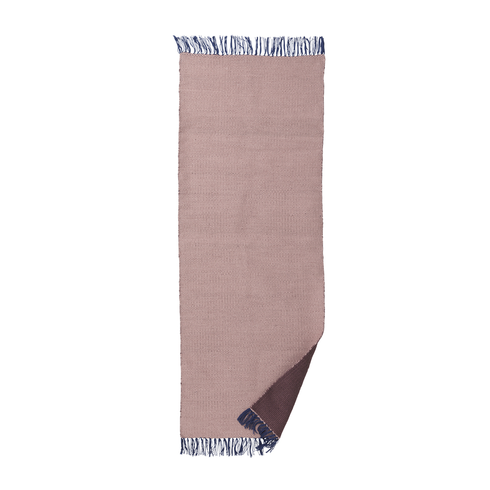 ferm living, Nomad Rug - Rosa/Bordeaux Large (70x180cm)