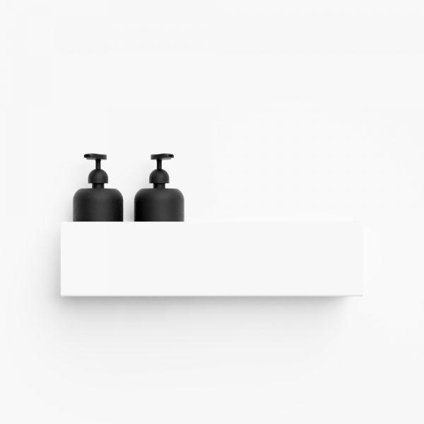 Nichba – Bath shelf 40 cm – Hvid