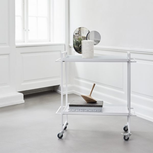 white bauhaus trolley new