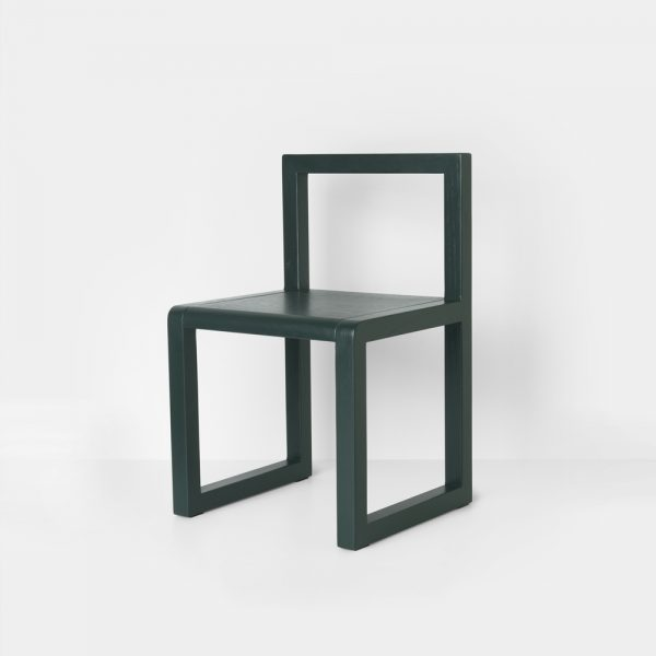 ferm living little architect chair green side