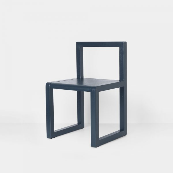 little architect chair dark blue side