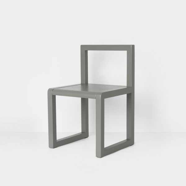 little architect chair grey side