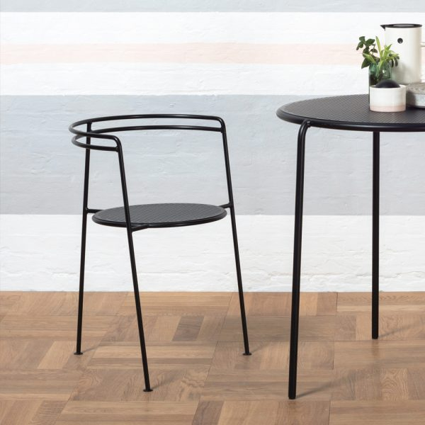 ok design point chair and table black