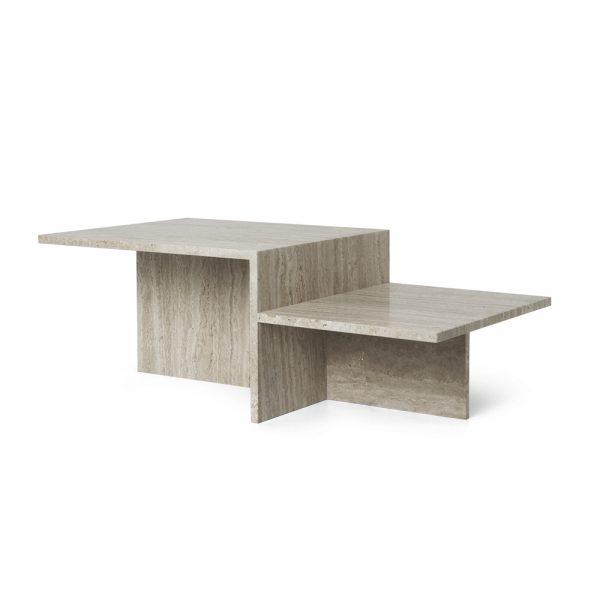 ferm living distinct coffee table travertine