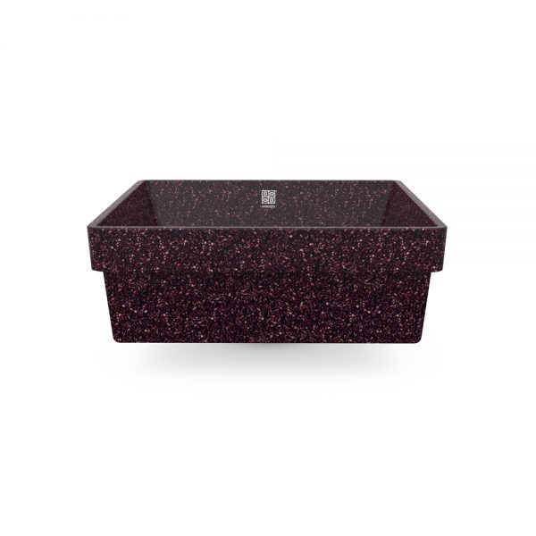 woodio cube 40 recessed berry side