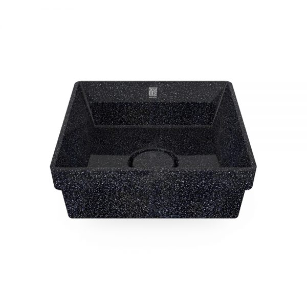 woodio cube 40 recessed char top