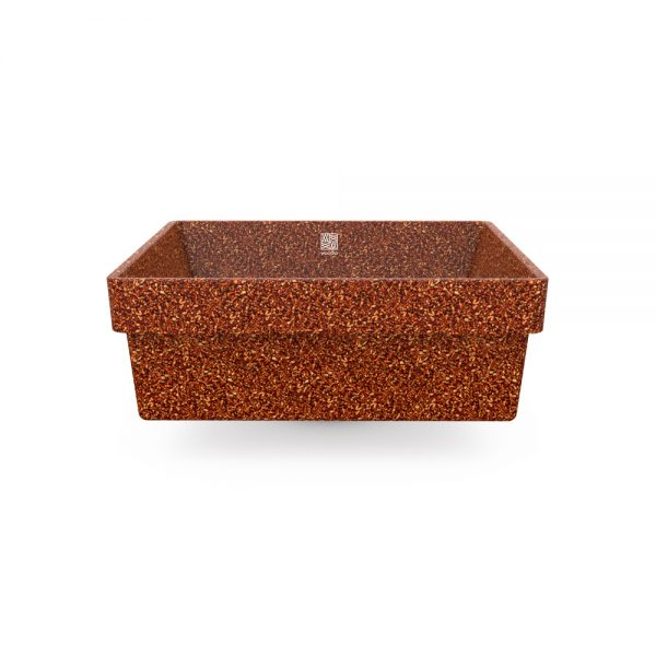 woodio cube 40 recessed clay side