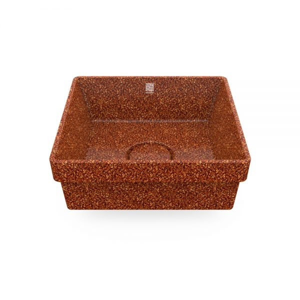 woodio cube 40 recessed clay top