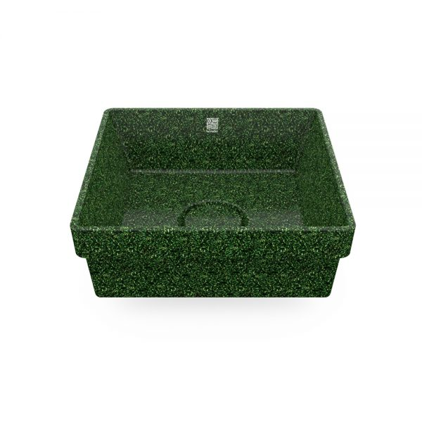 woodio cube 40 recessed moss top