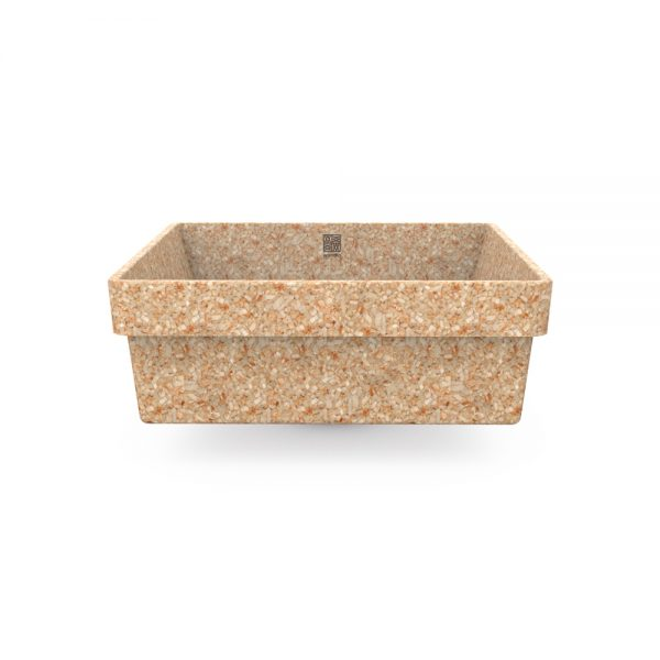 woodio cube 40 recessed natural aspen side
