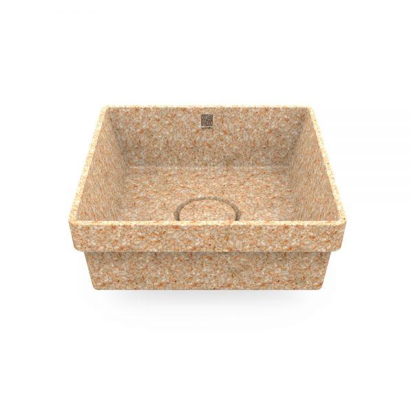 woodio cube 40 recessed natural aspen top