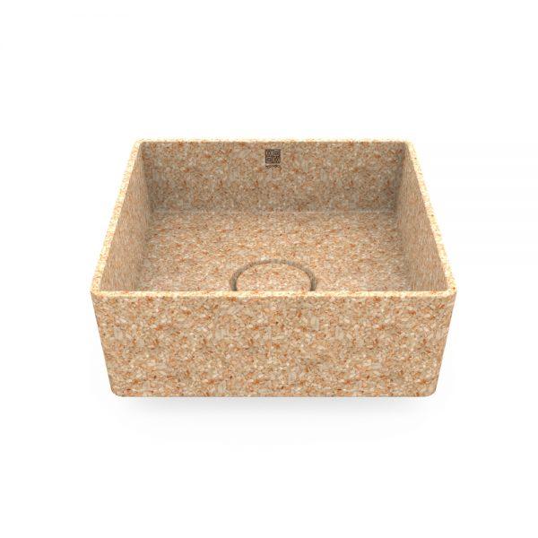 woodio cube 40 table top natural aspen 1